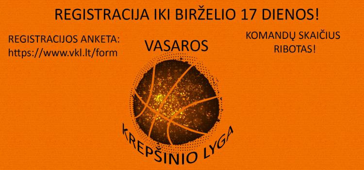 Kviečiame registruotis į Vasaros krepšinio lygą 2019