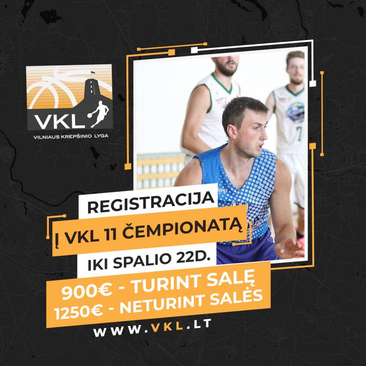 11-asis Top Sport - VKL krepšinio čempionatas: REGISTRACIJA
