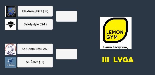 3 Lyga - Lemon Gym Taurė - savaitės apžvalga